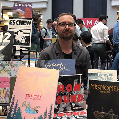 TCAF remains the most well-oiled of comics shows. Credit the Beguiling's  Peter Birkemoe and Chris Butcher and (relative new guy) Andrew Townsend.